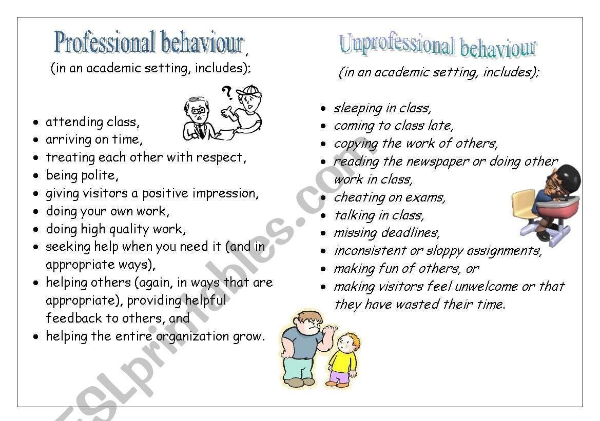 Classroom Behaviour Rules