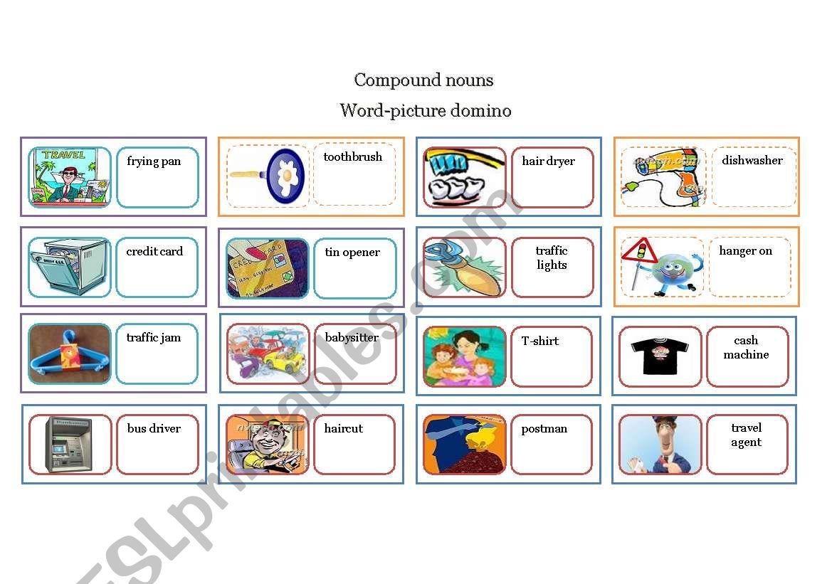 Compound Nouns Domino Game