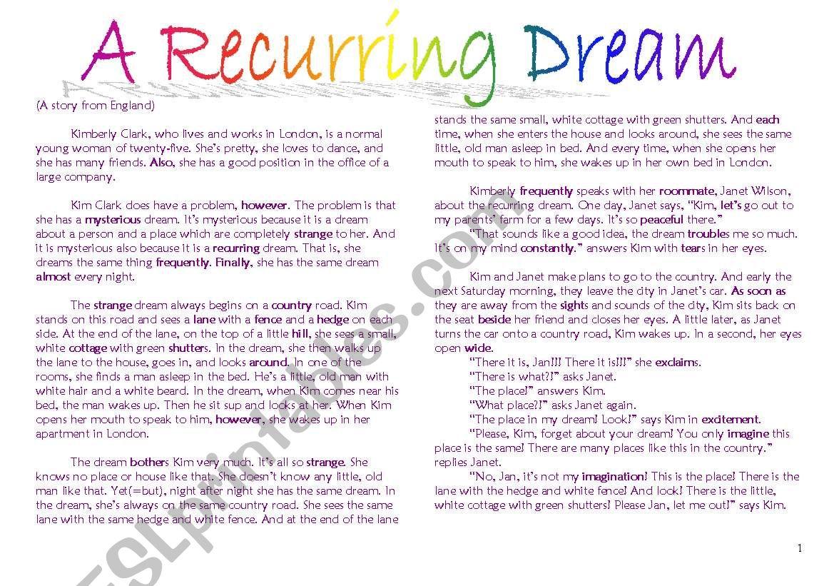 A Recurring Dream