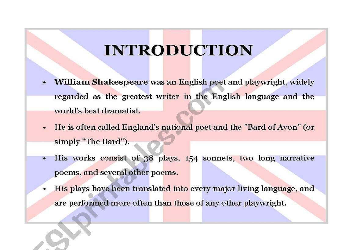 William Shakespeare Part 2