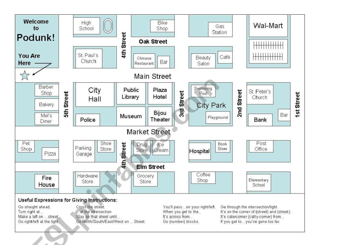 Blank Town Map Worksheet