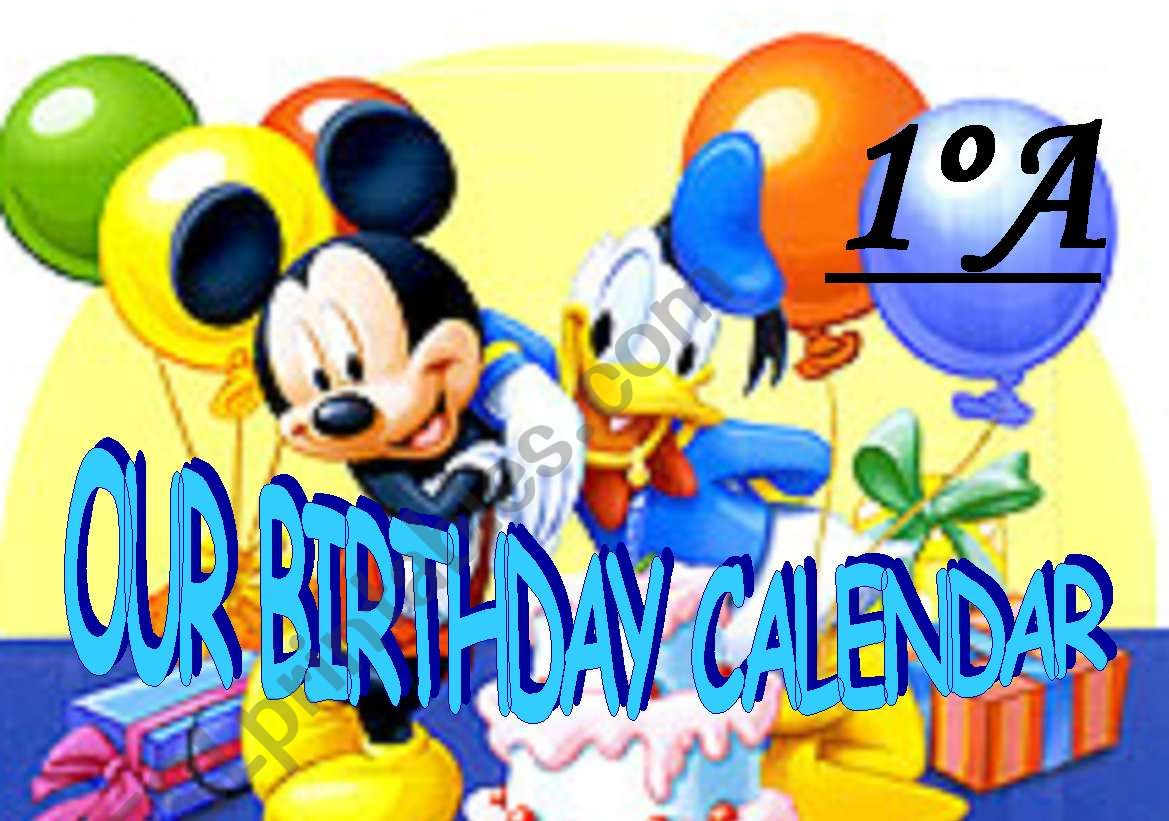 Title For Birthday Calendar