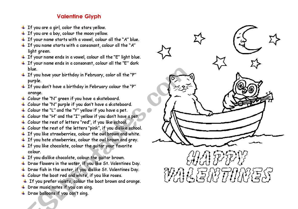 Valentine S Worksheet Elementary
