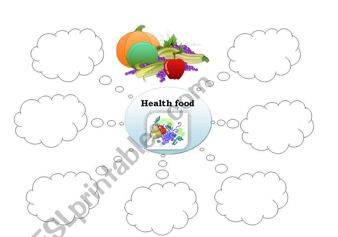 English Worksheets Healthy Food