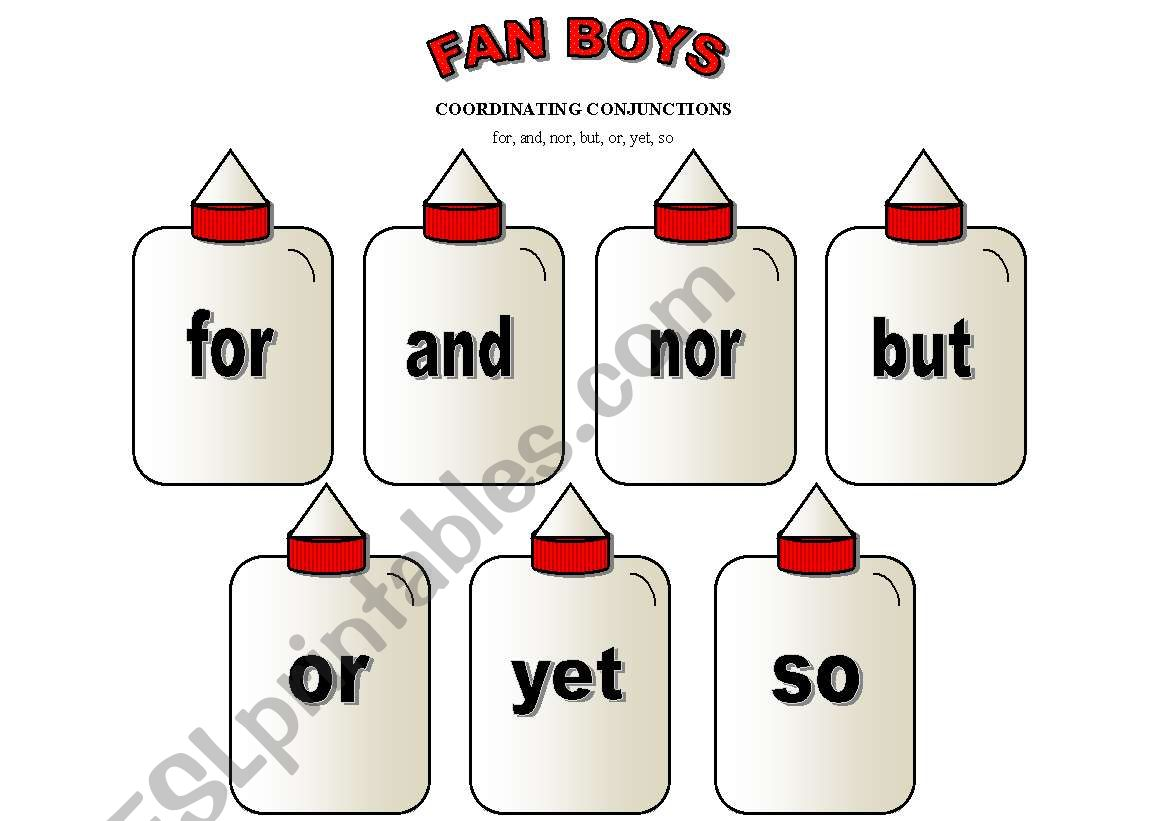 Conjunctions Or Conectors Poster Flashcard