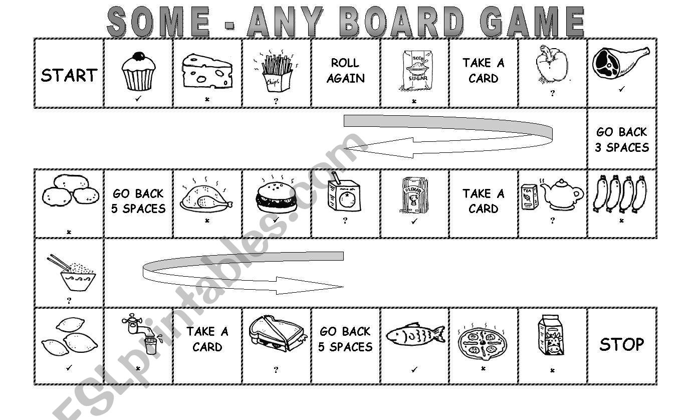 Some And Any Board Game