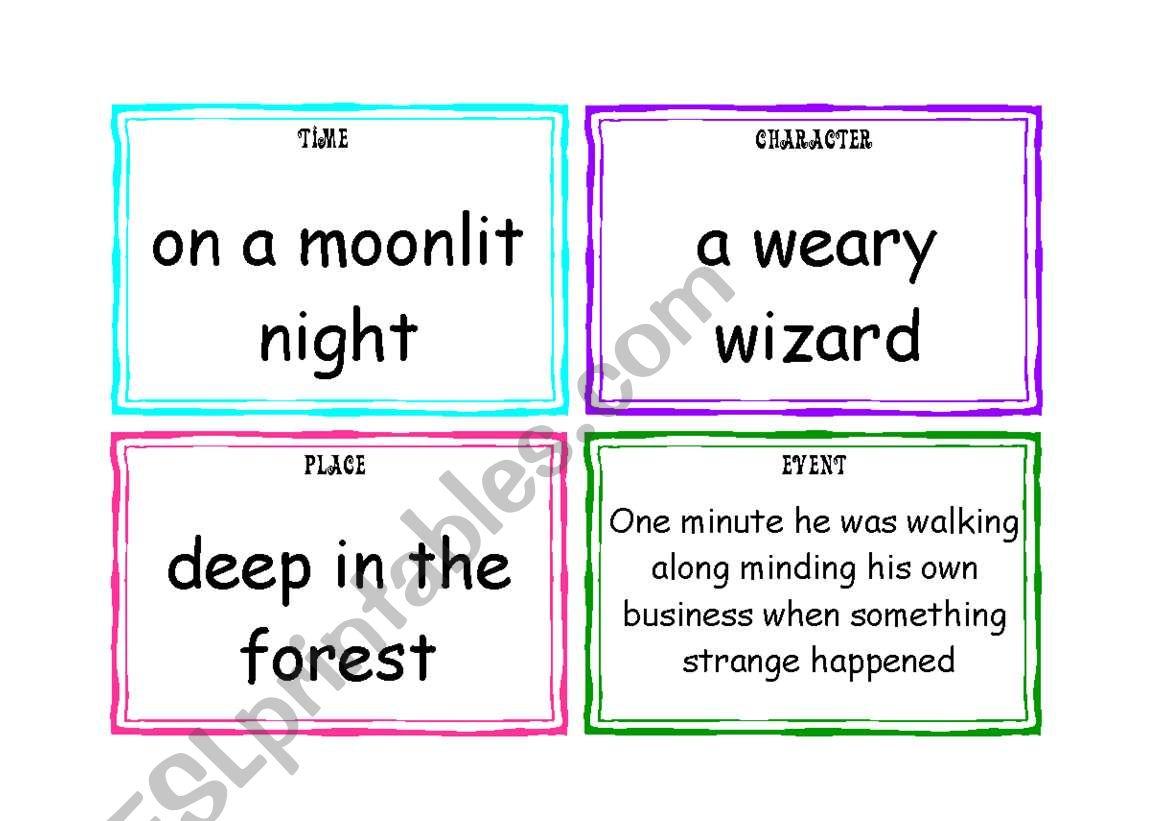 Story Telling Flashcards