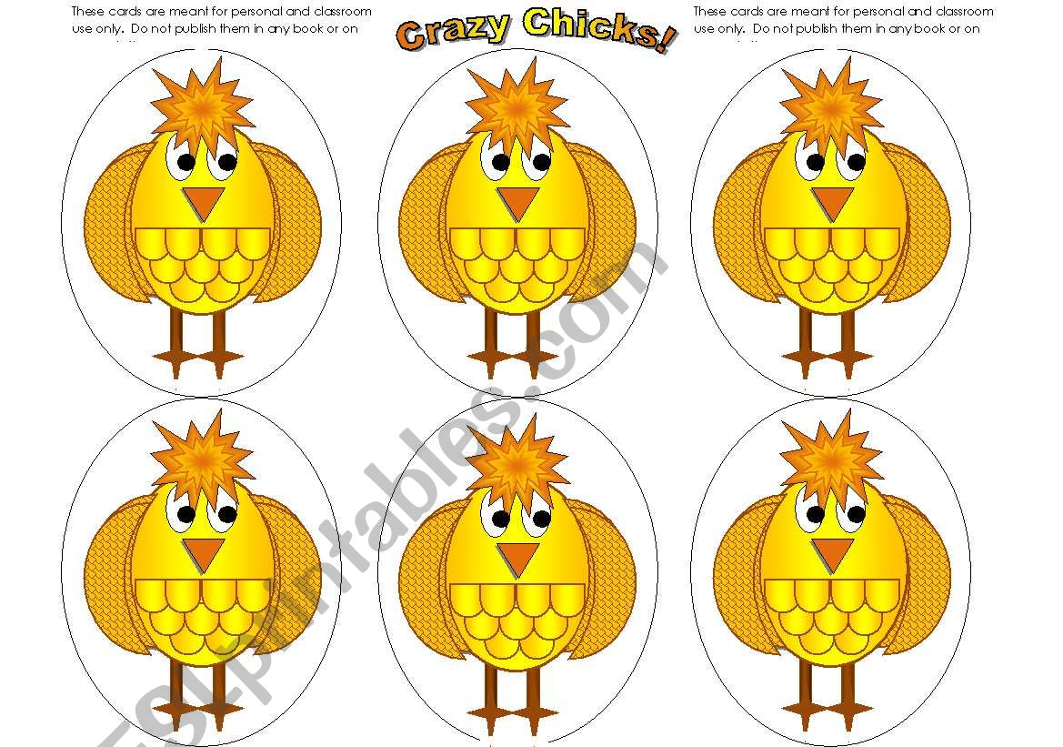 Chick Cards Add Your Own Text