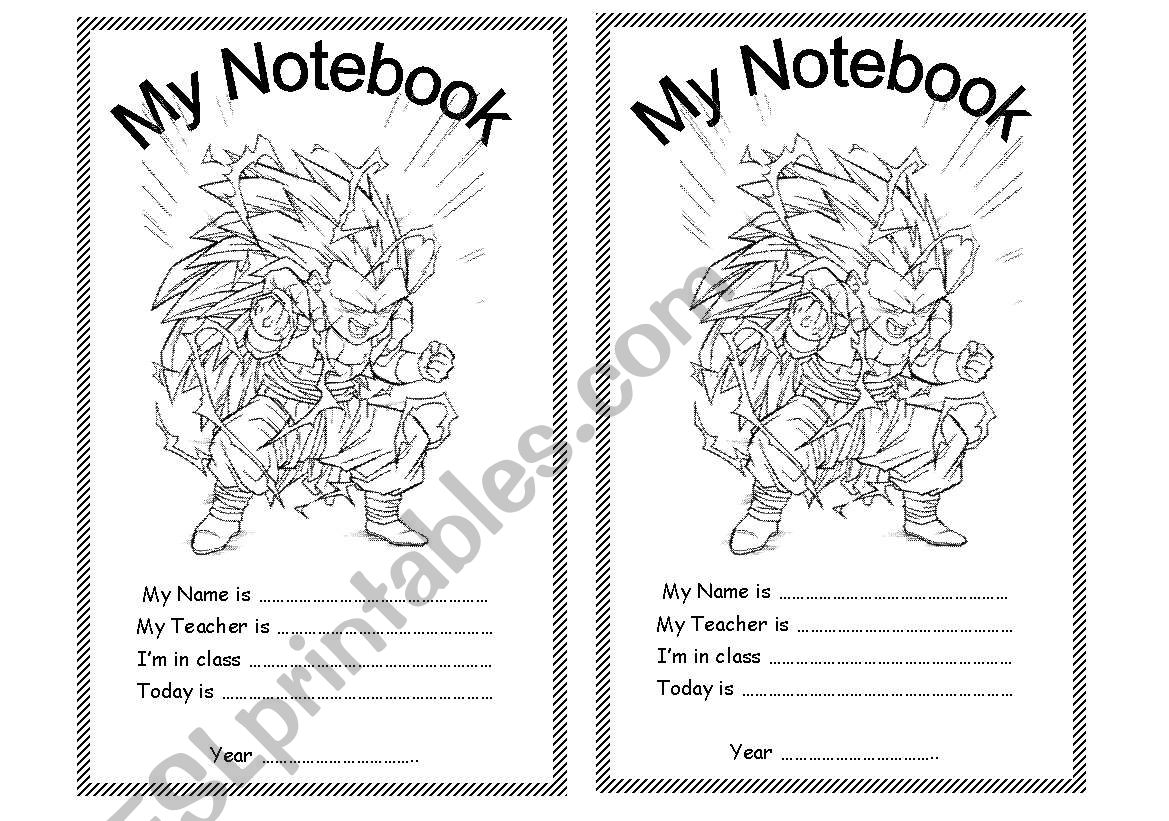 Notebook Cover Page