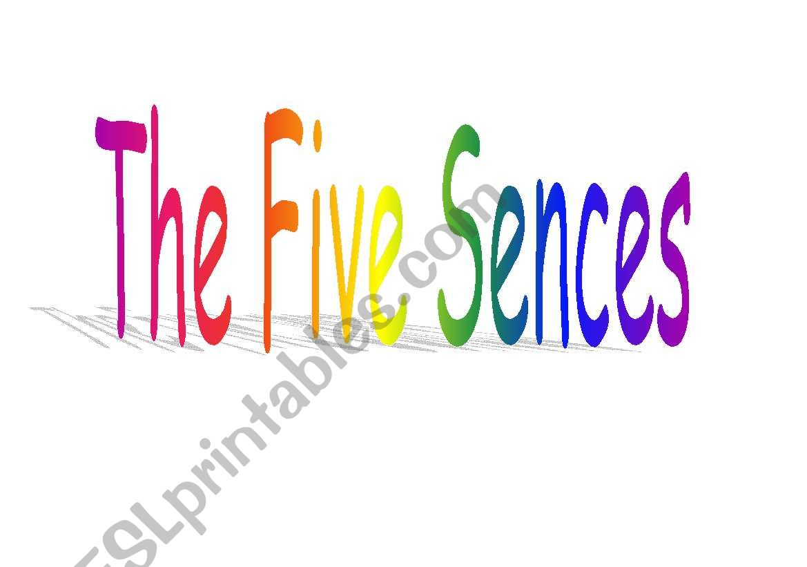 English Worksheets The Five Sences