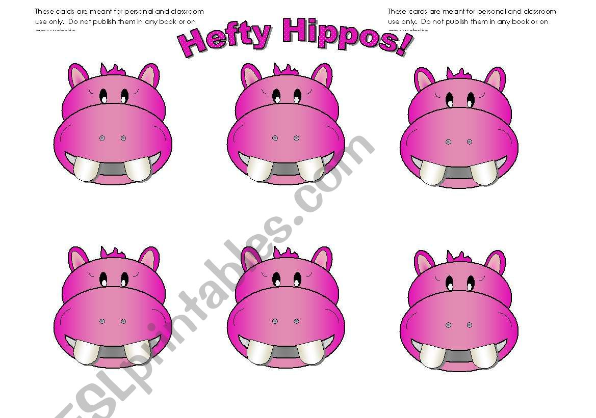 Hippo Cards Pink Add Your Own Text