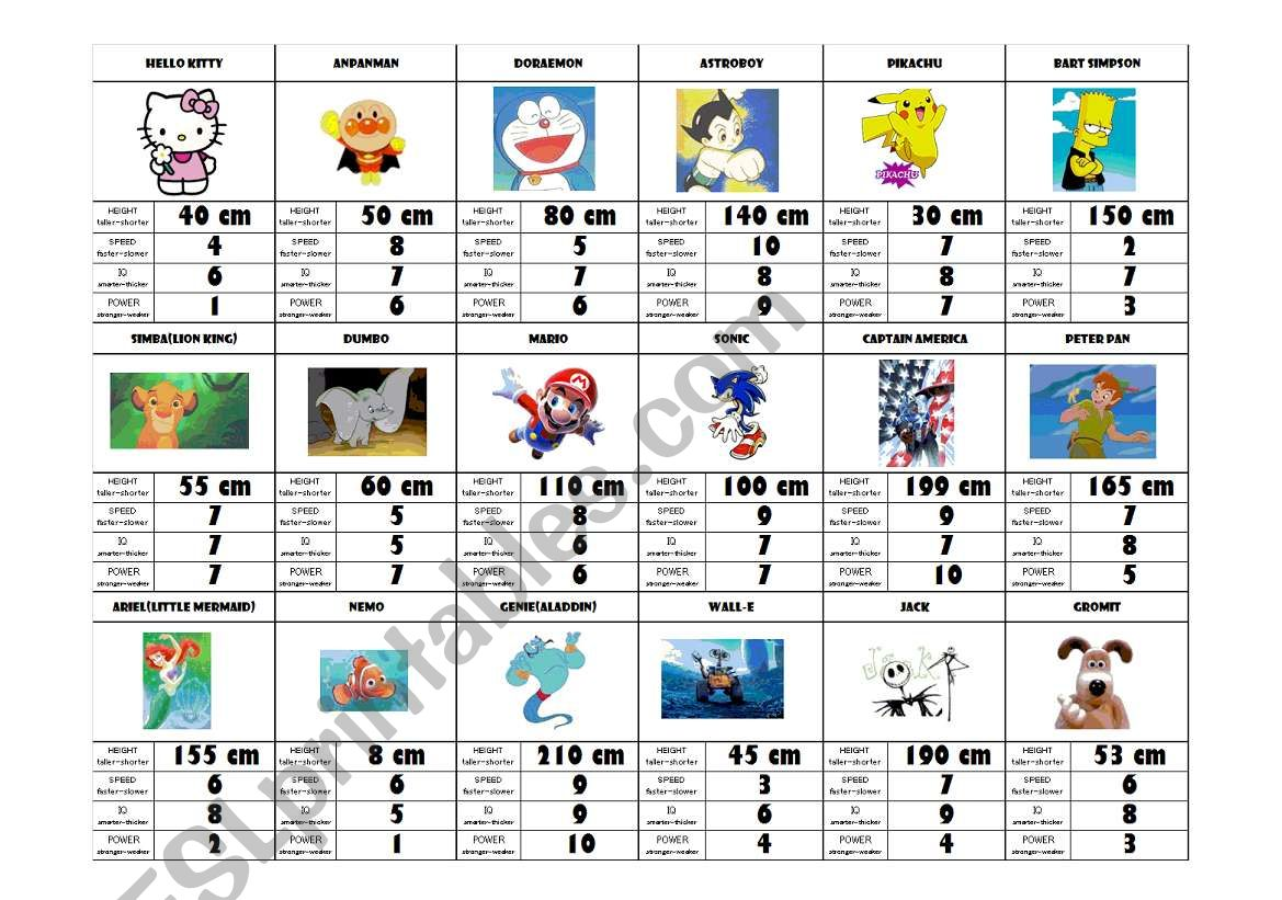 Superhero Games Worksheet