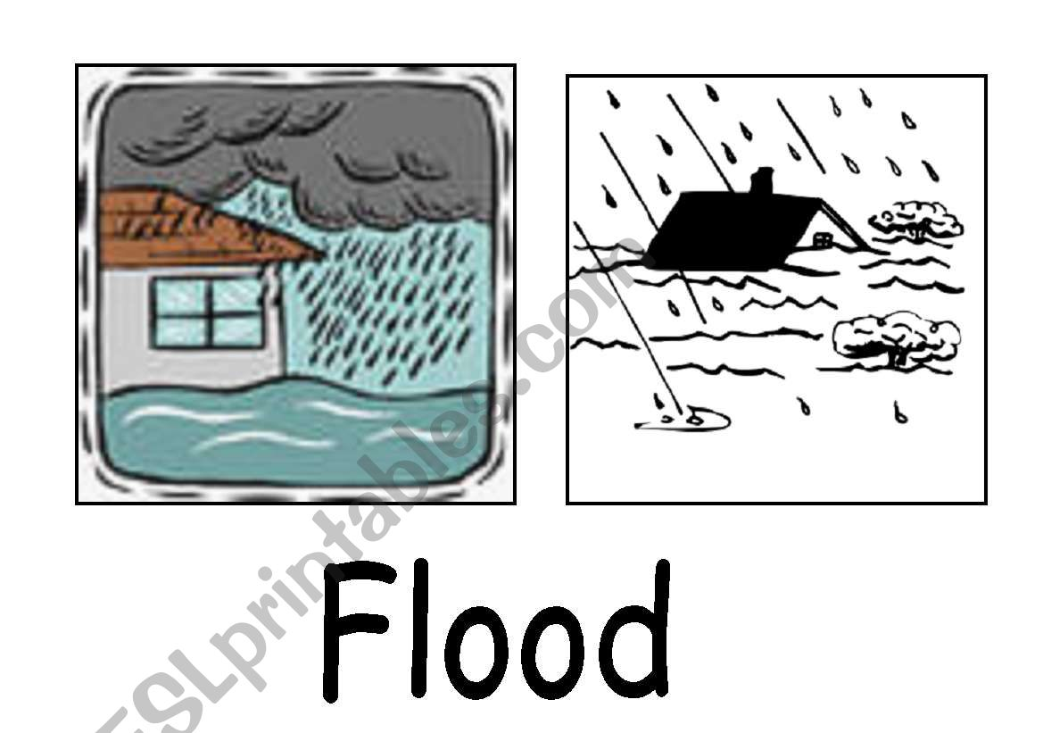 Natural Disasters Flash Cards