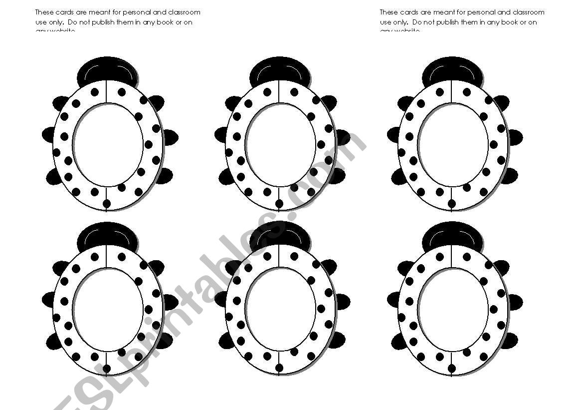 Lady Bug Lady Bird Frames Black And White Use Them With