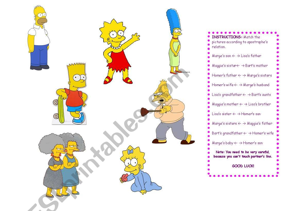 Using Apostrophe With The Family Simpsons