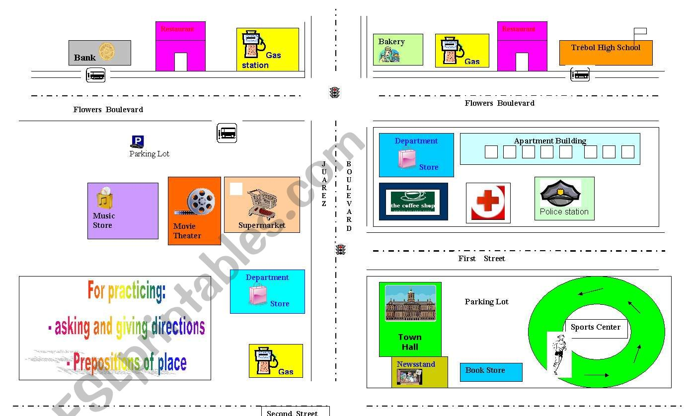 Map For Teaching Prepositions