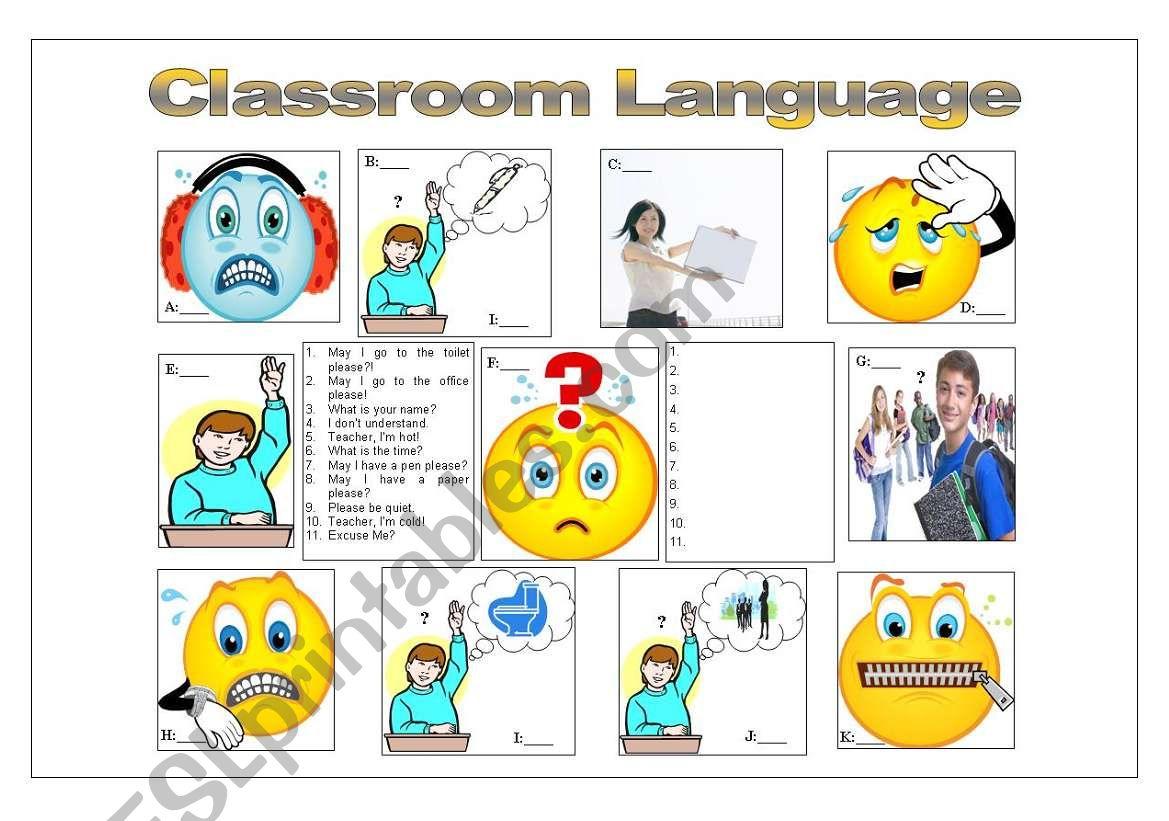 Basic Classroom Language