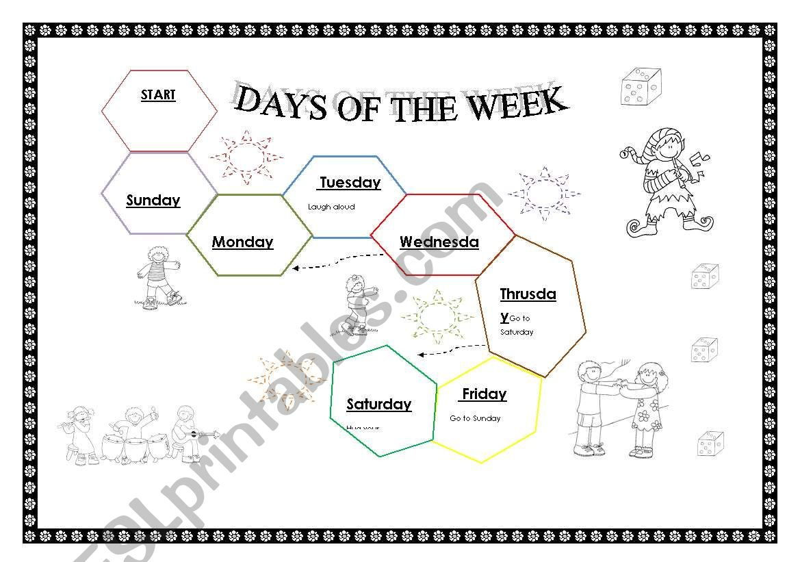 Days Of The Week Game