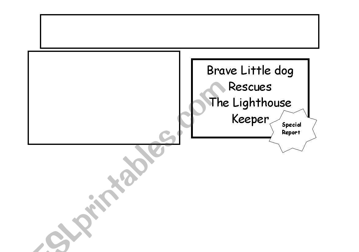English Worksheets The Lighthouse Keeper S Rescue