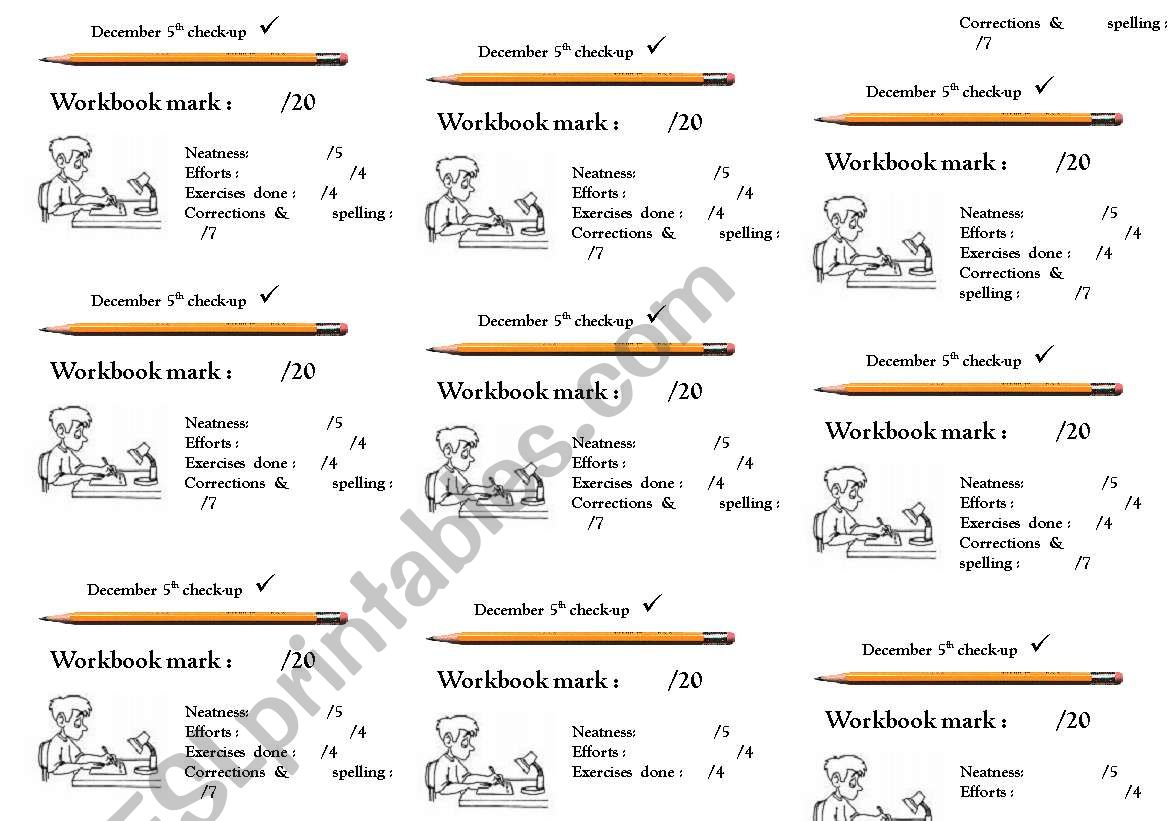 Helpers For Marking Students Workbooks 3
