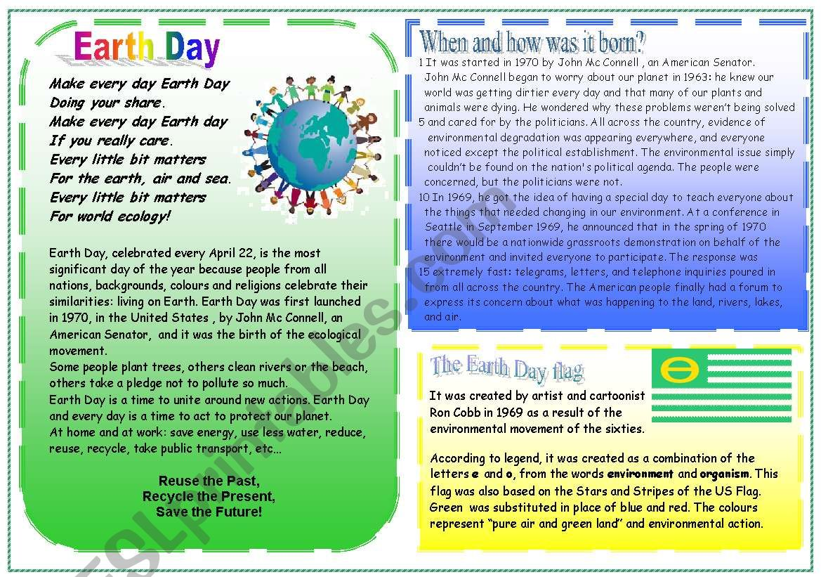 Earth Day Part 1 4 Skills