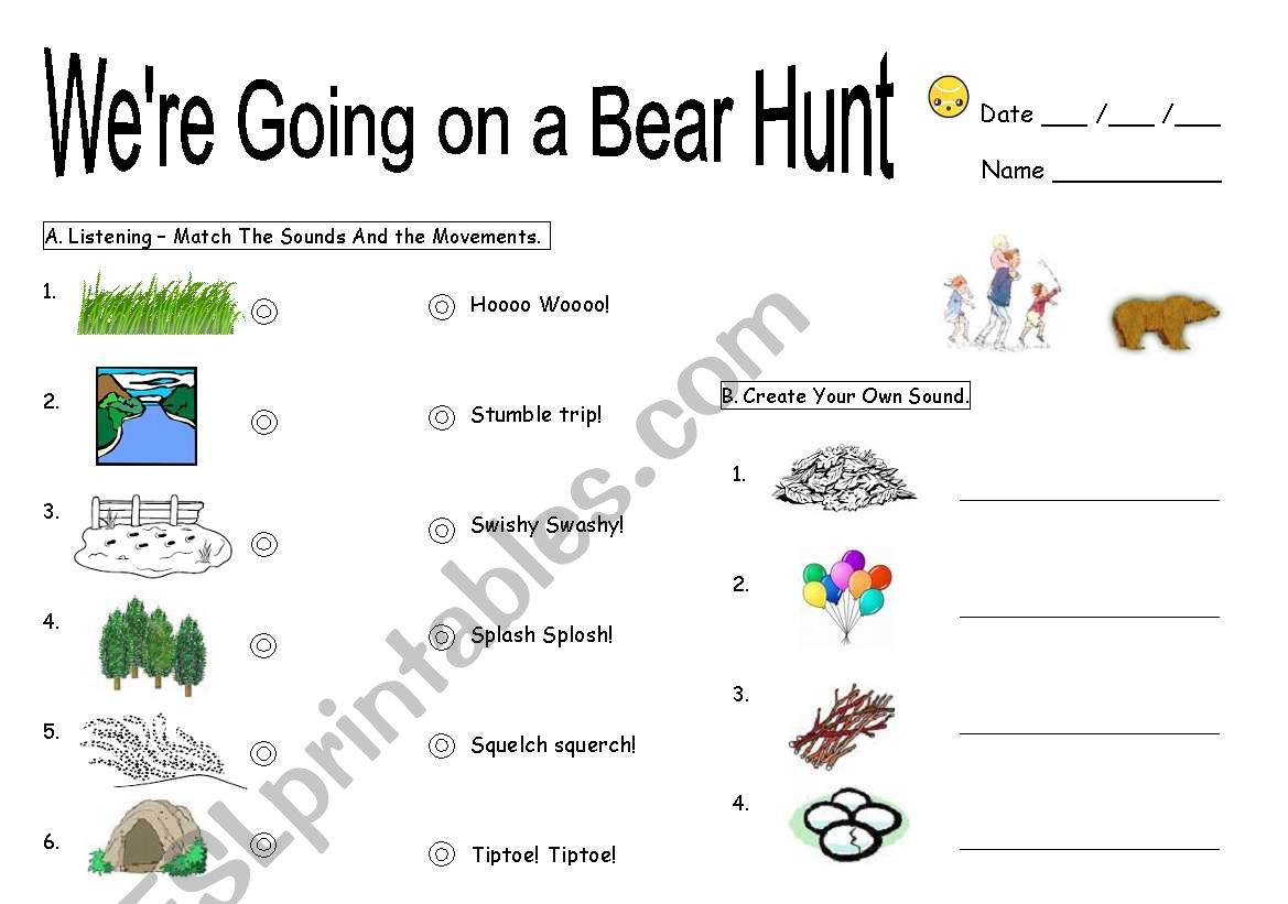 We Re Going On A Bear Hunt Worksheet