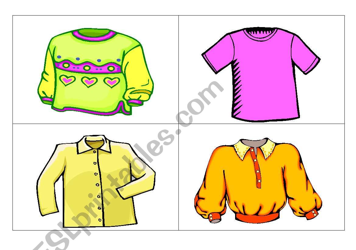 Flashcards Clothes