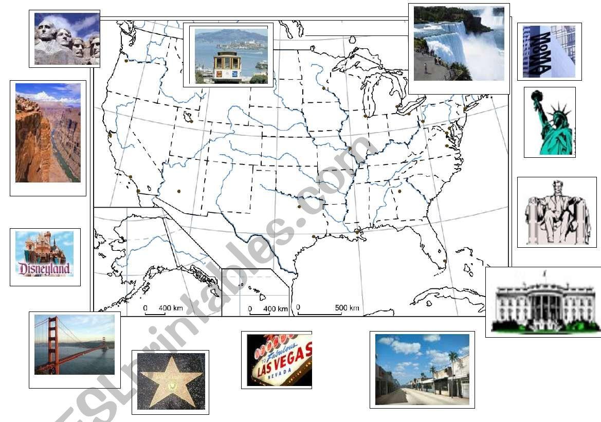 The Usa Major Landmarks