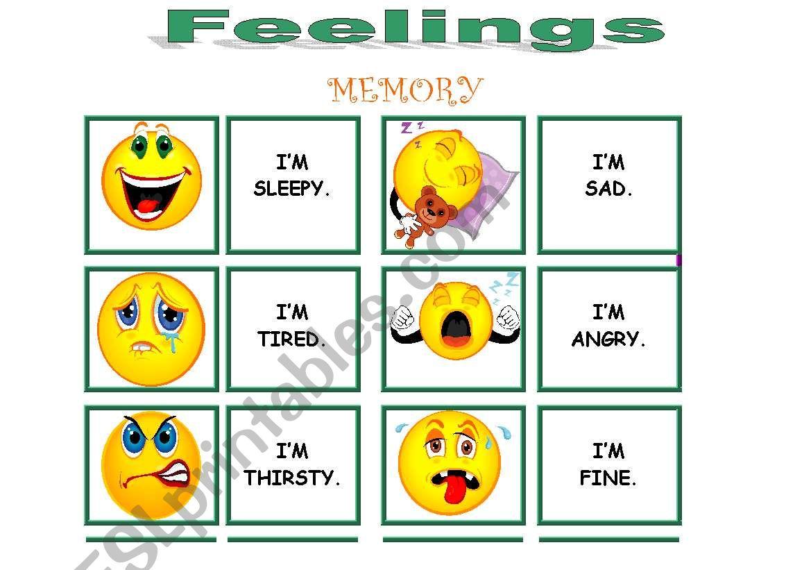 Feelings Memory Very Complete 1 3