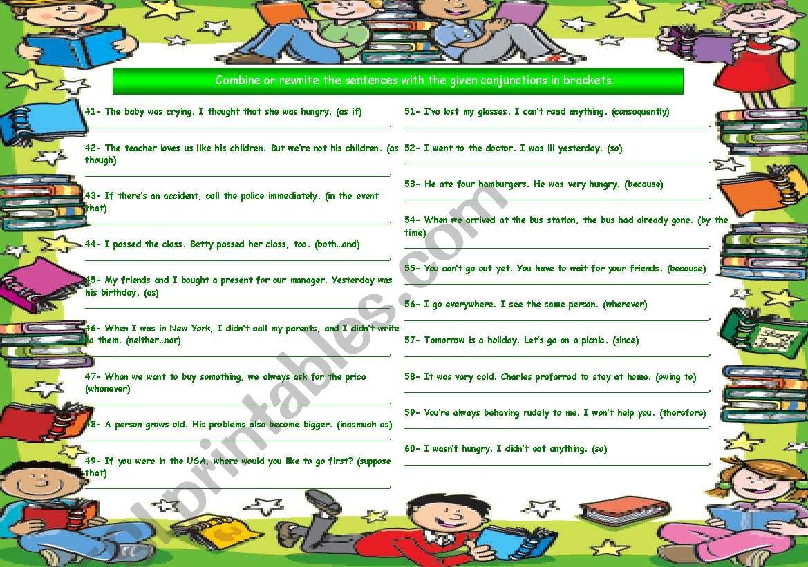 Conjunctions Part 3
