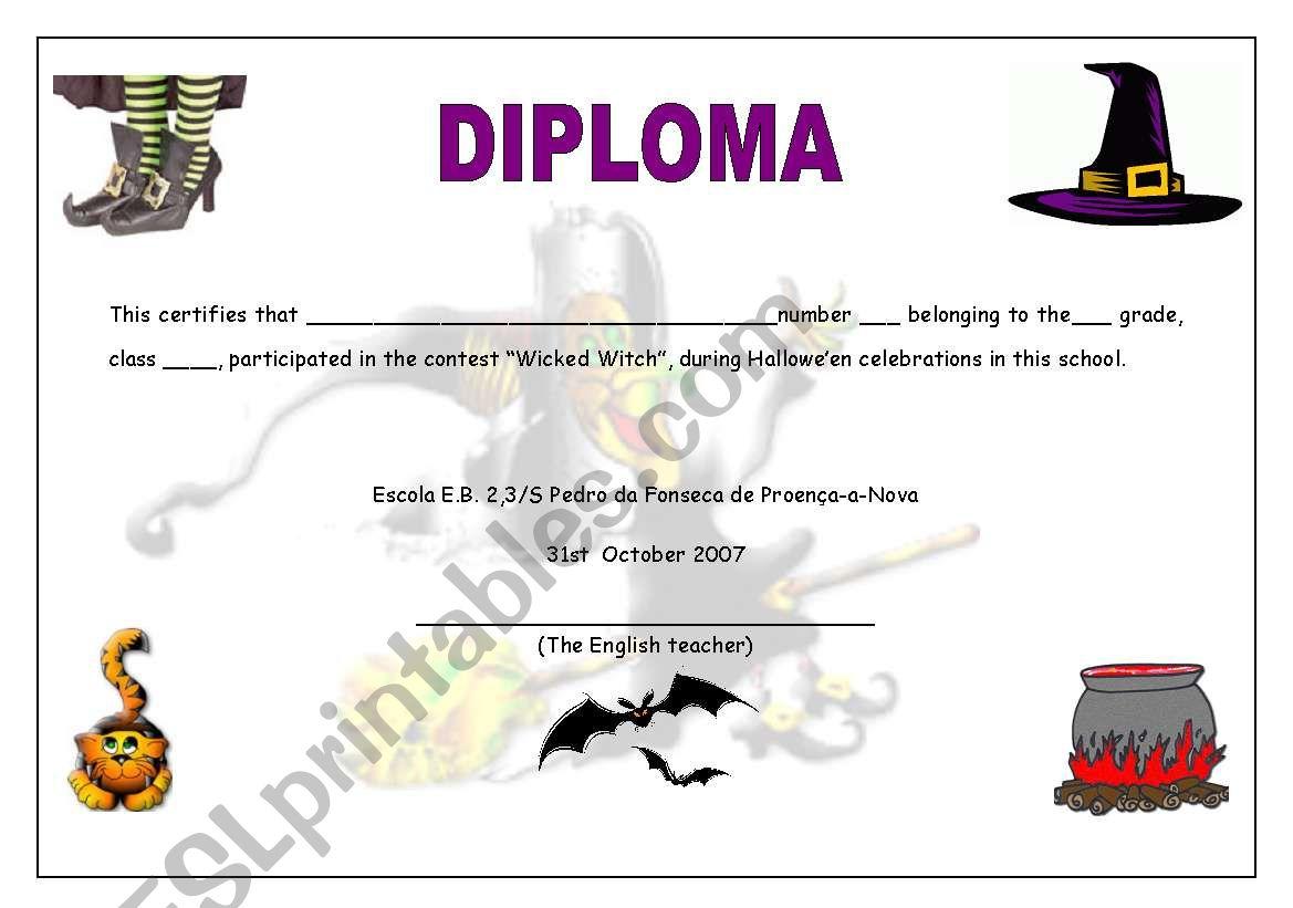 Halloween Certificate 07 05 09