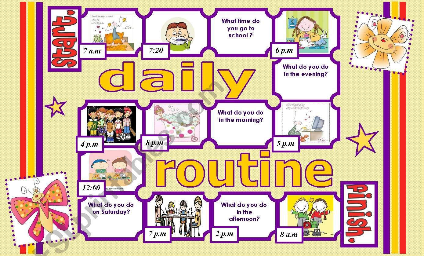 Daily Routine Board Game