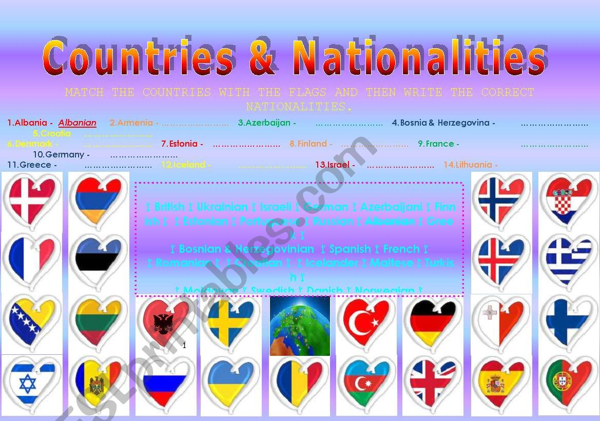 Countries Amp Nationalities