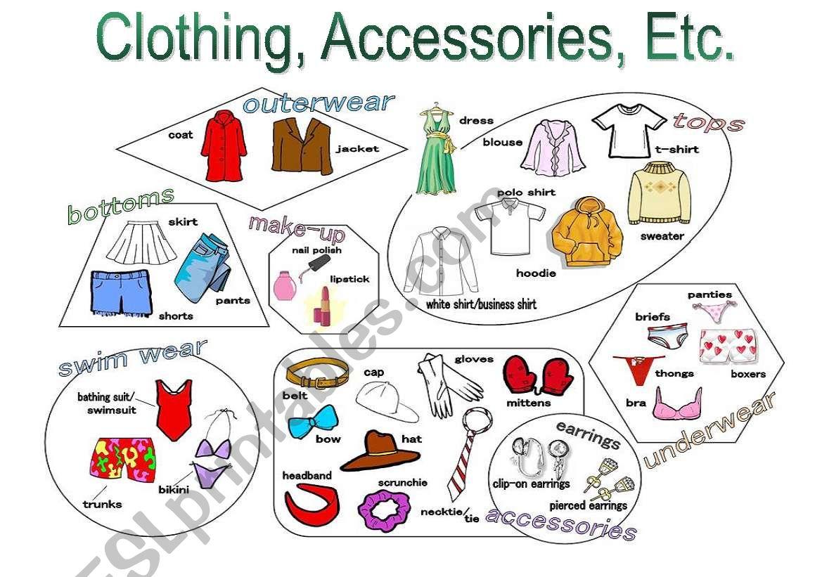 Clothing Accessories Etc