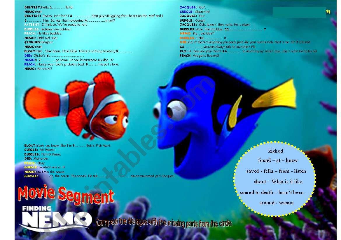 Finding Nemo Movie Segment 1 2 Movies In The Classroom