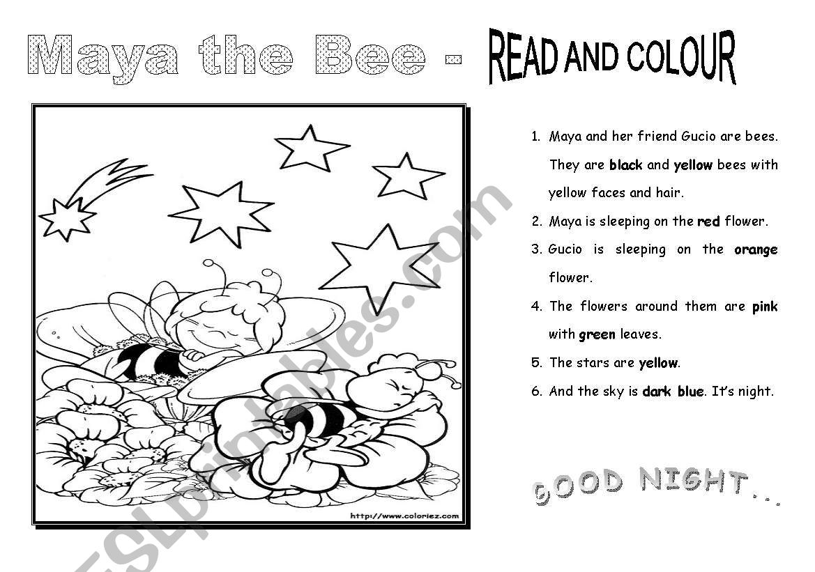 Maya The Bee Read And Colour