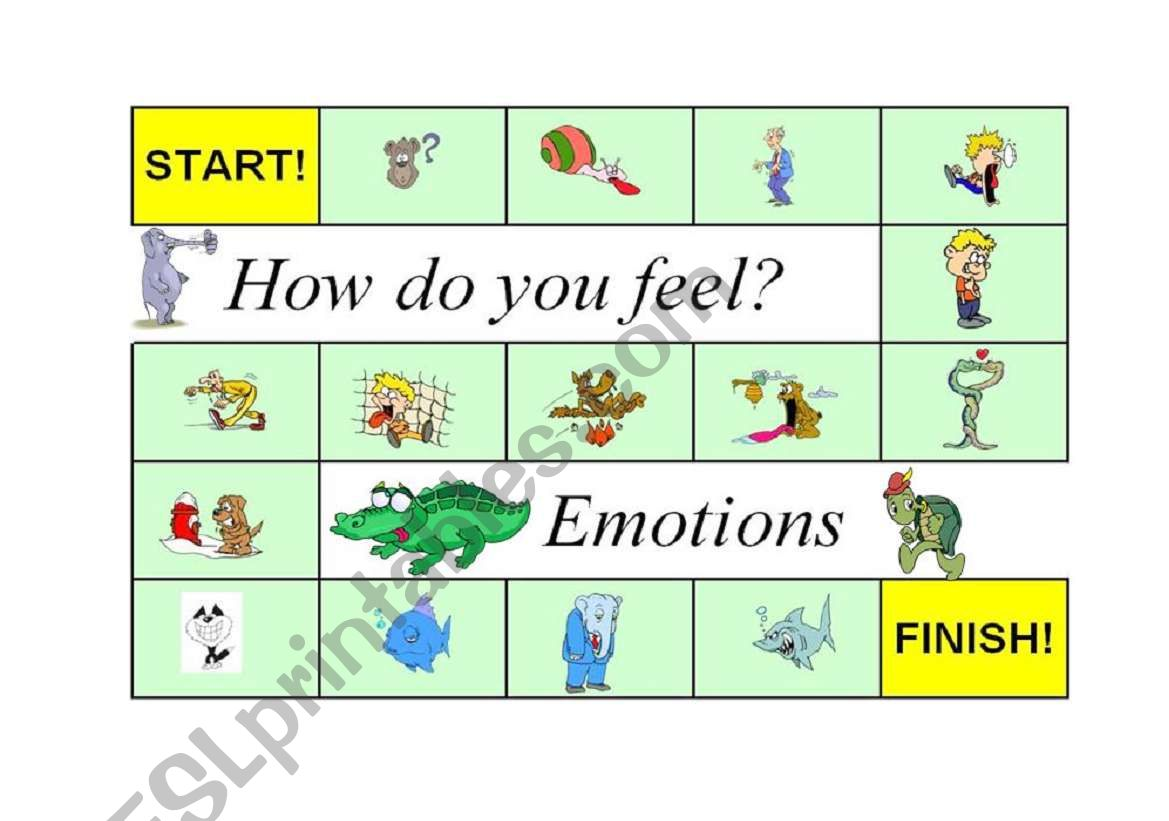 Super Fun Board Game Emotions Feelings