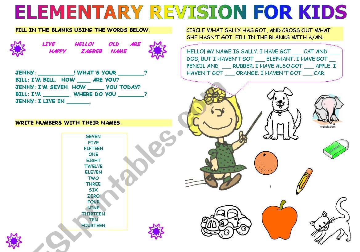Elementary Revision For Kids