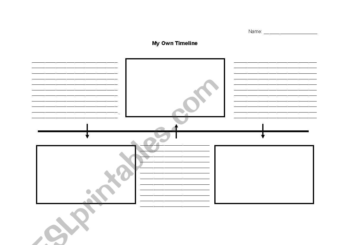 English Worksheets My Own Timeline