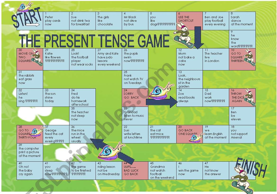The Present Tense Game