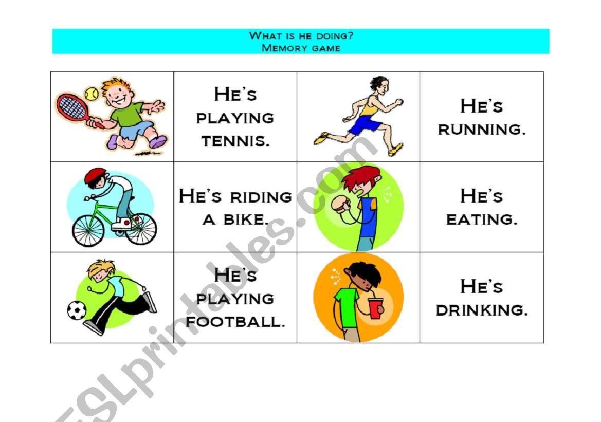 English Worksheets Sports