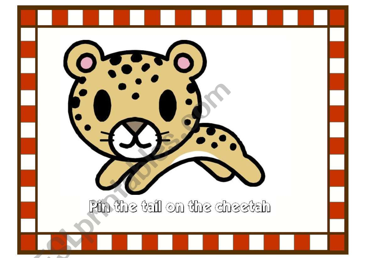 Great Directions Prepositions Game Pin The Tail On