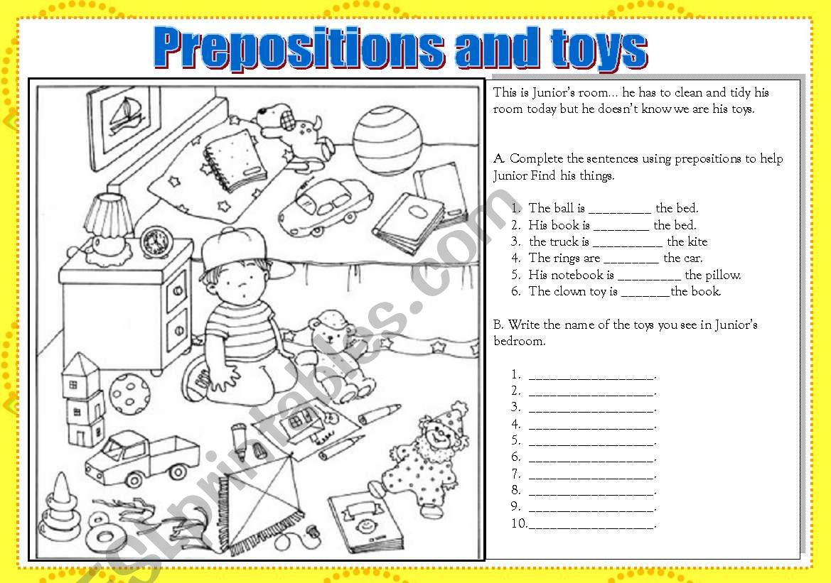 Prepositions And Toys