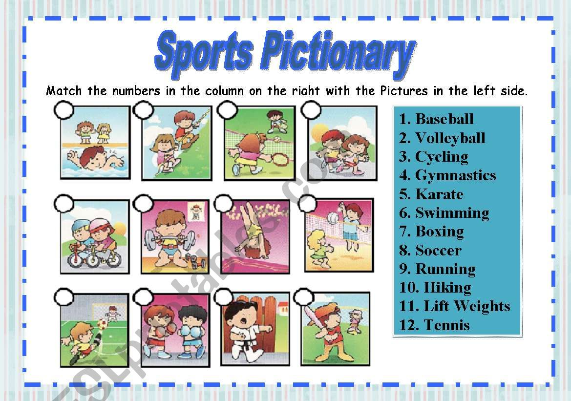 Sports Pictionary