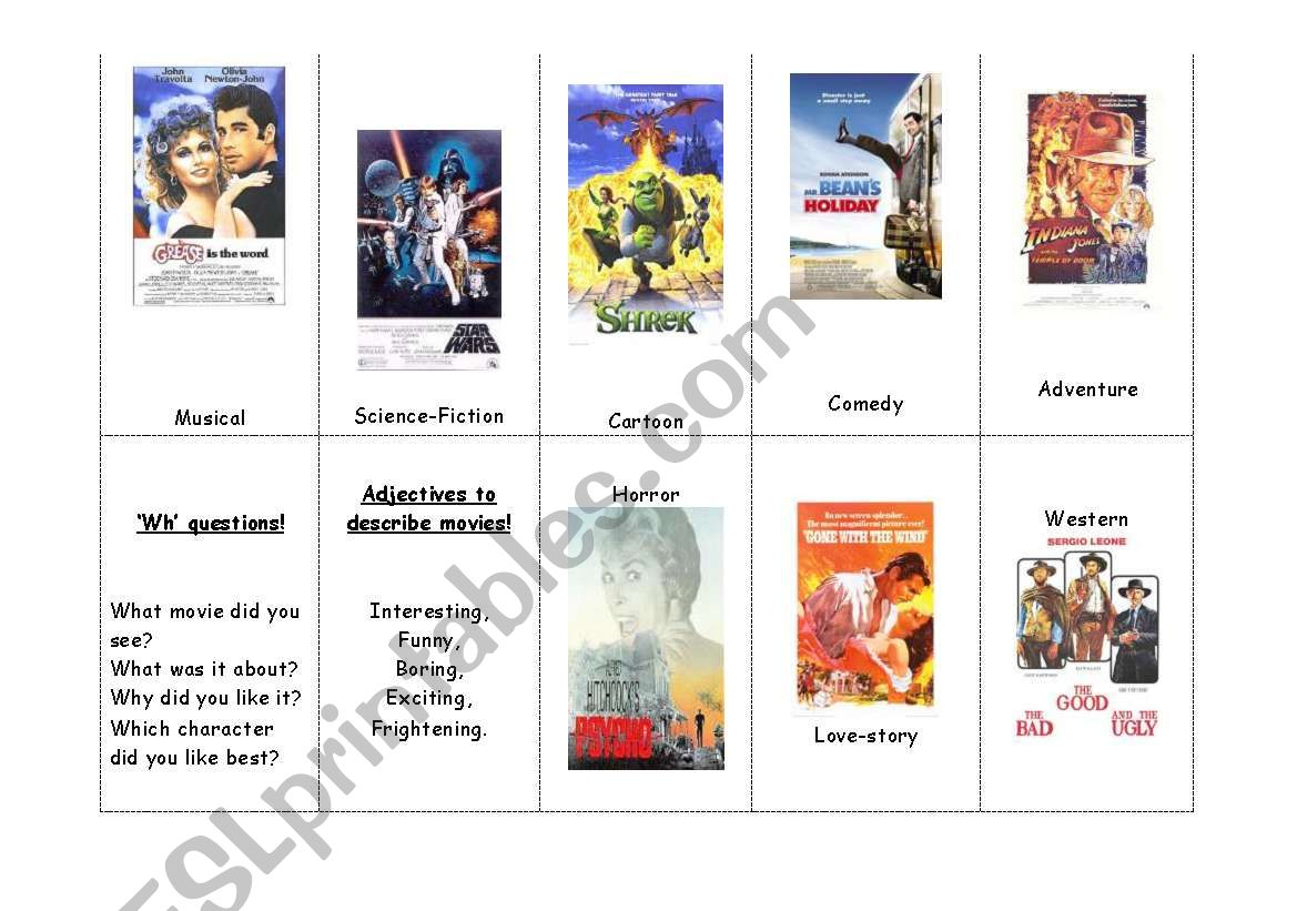 Film Genres Handout Flashcards