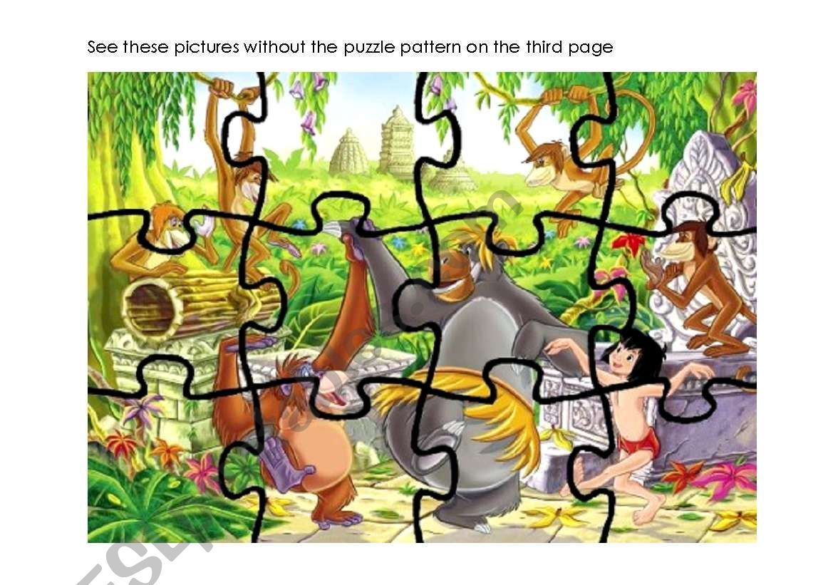 Jungle Puzzles With Games To Go With