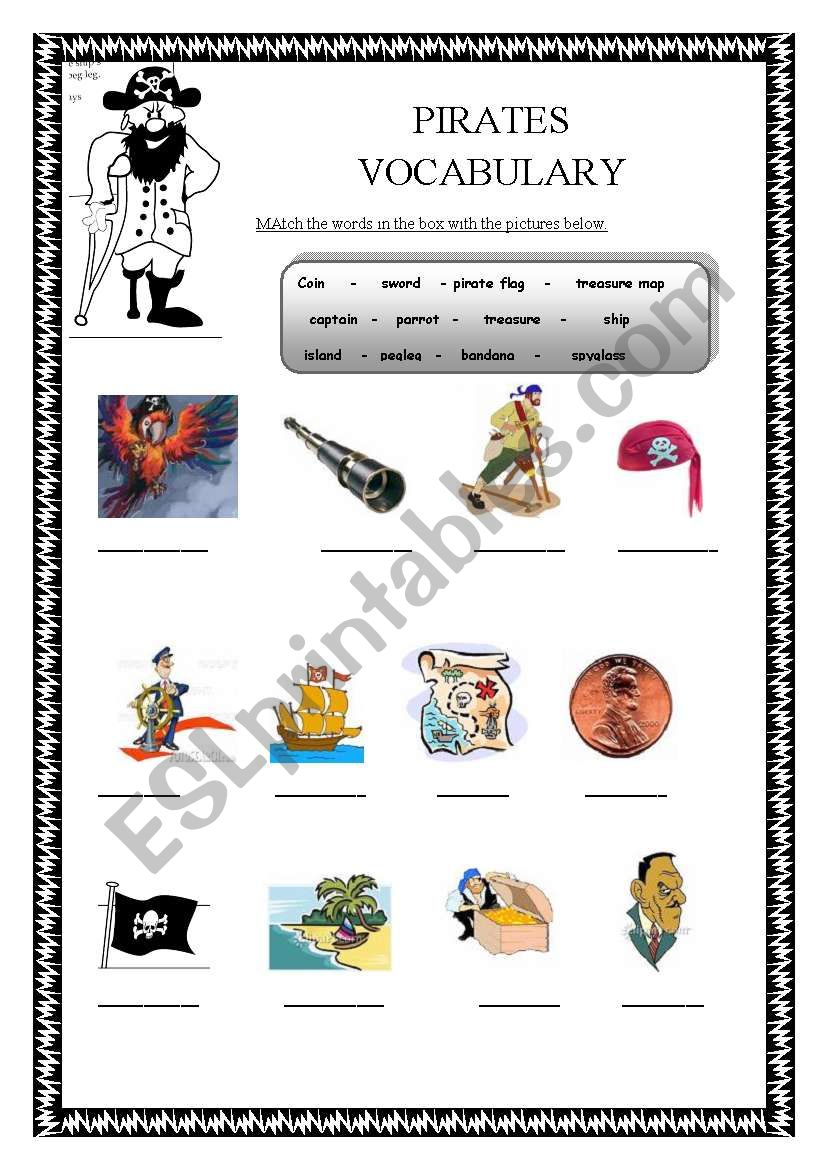Pirates Vocabulary
