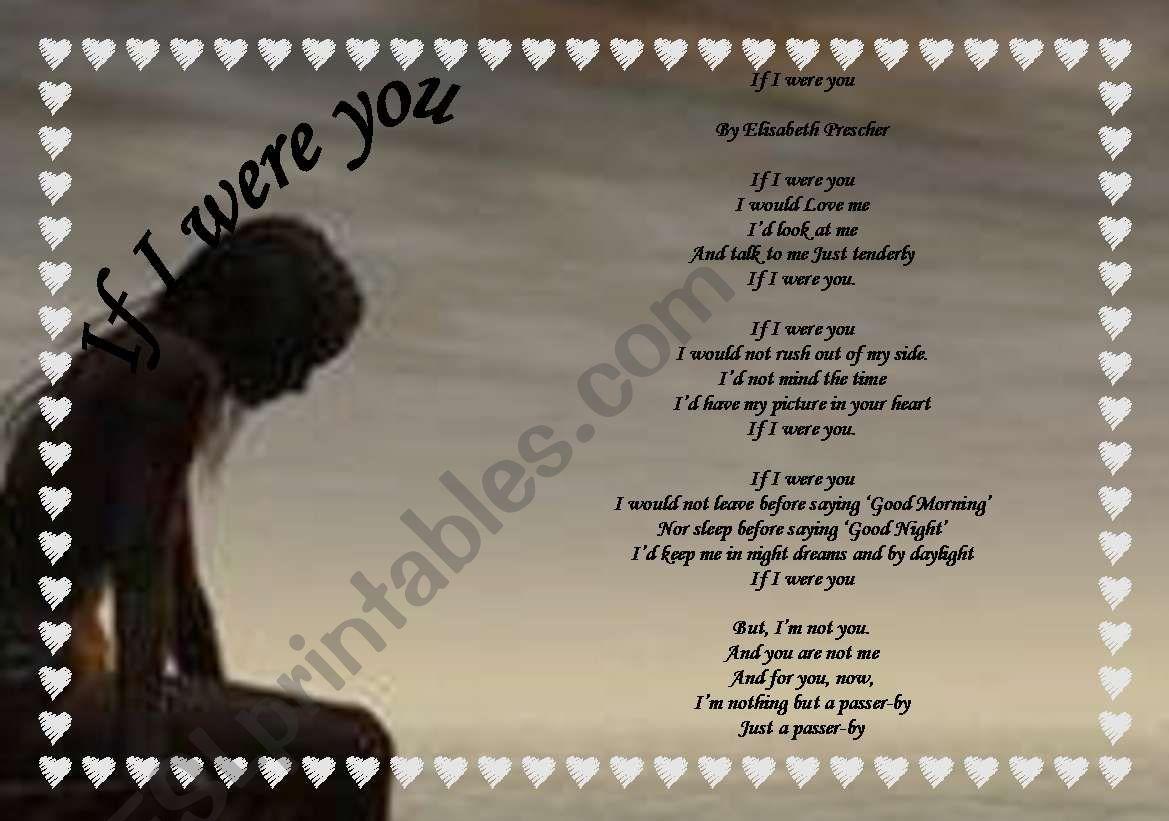 Poem If I Were You