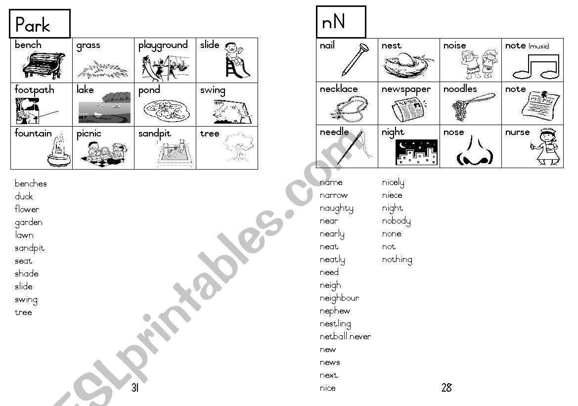 A5 Picture Dictionary 29