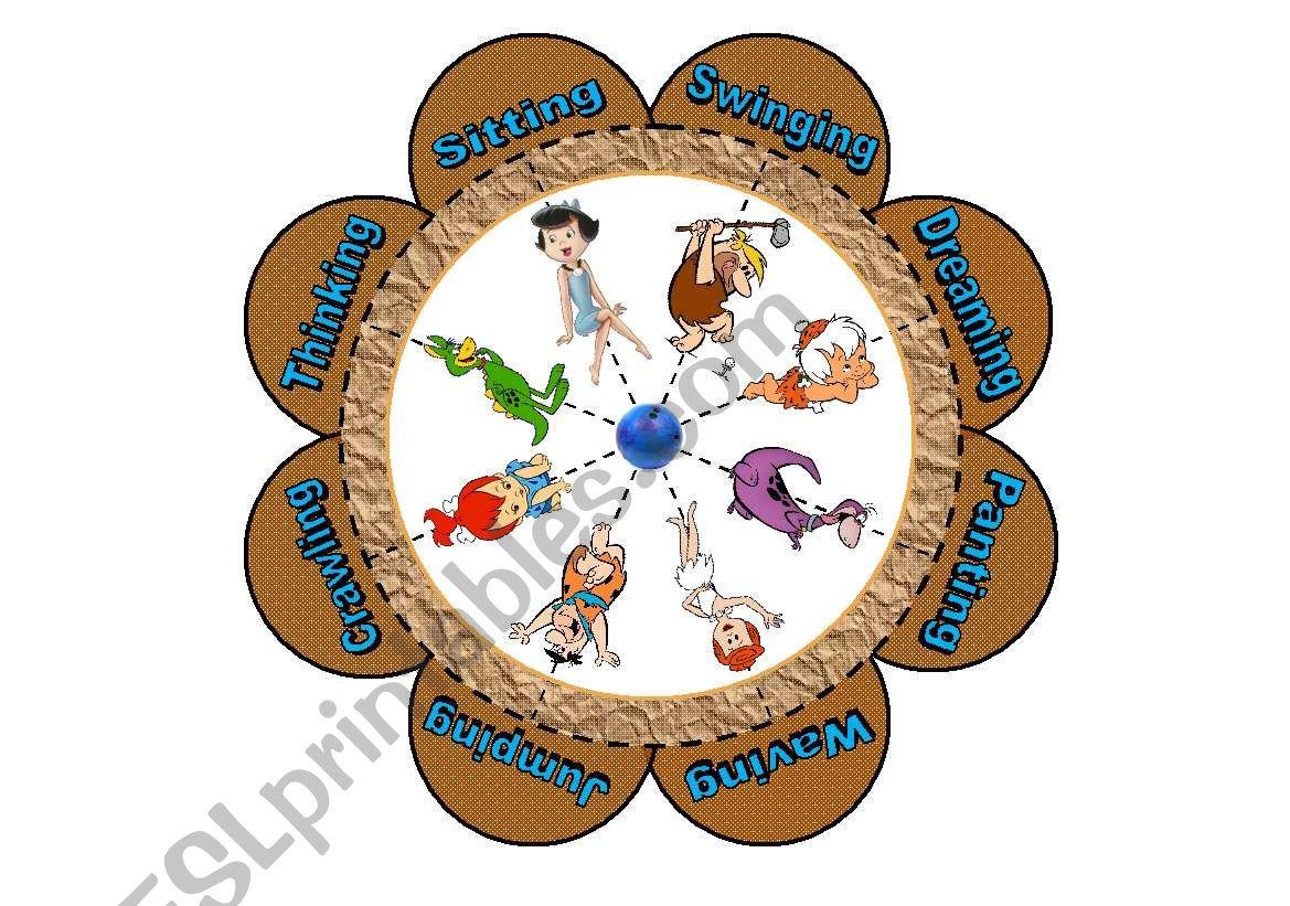 Verb Flower Puzzle With The Flintstones 16 Piece Puzzle